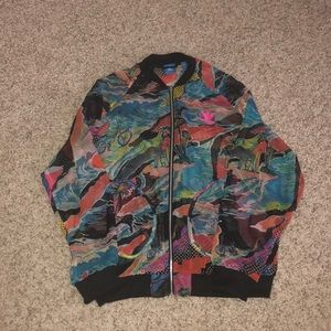 Adidas Originals Sheer Neon Print Jacket